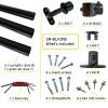 black handrail kit components
