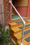 Terminated Wall-to-Floor Accessibility Stair Handrail, usage