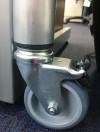 braked castor