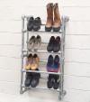 wall mounted shoe rack detail corner