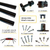 black handrail kit components