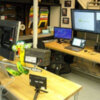 detail of pc gaming desk