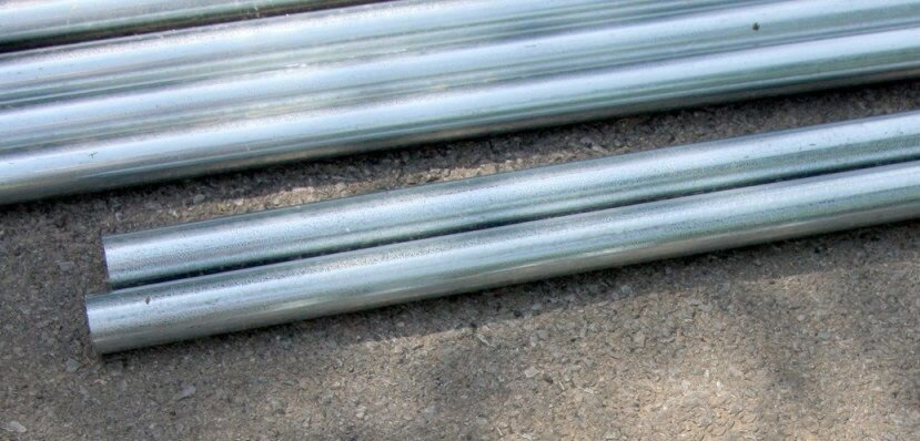 galvanised steel and aluminium tube