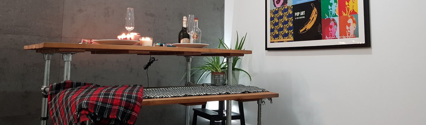 Industrial style dining tables