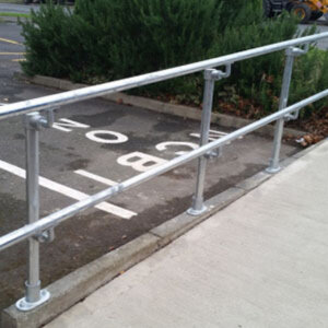 Accessibility handrail (non-powder-coated)