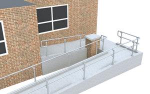Complex DDA ramp railing