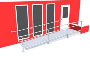 DDA ramp railing - Wall & ramp