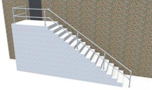 DDA stair railing
