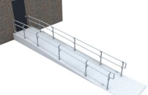 Top/mid/bottom DDA railing