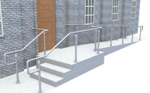 Top/mid rail DDA railing - Ramp, wall & stair