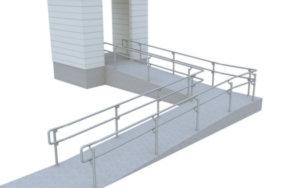 Top/mid DDA ramp railing