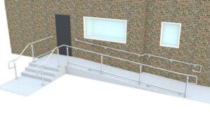 Top rail DDA railing - Ramp & stair