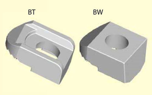 BeamClamp components type BT & BW