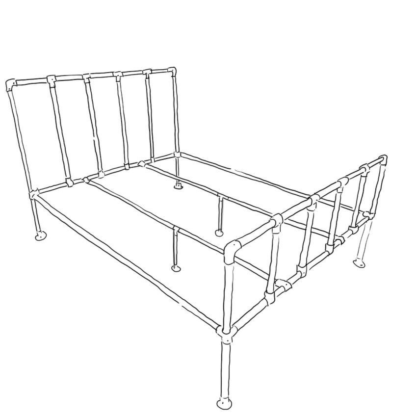 Industrial bed: Camden frame
