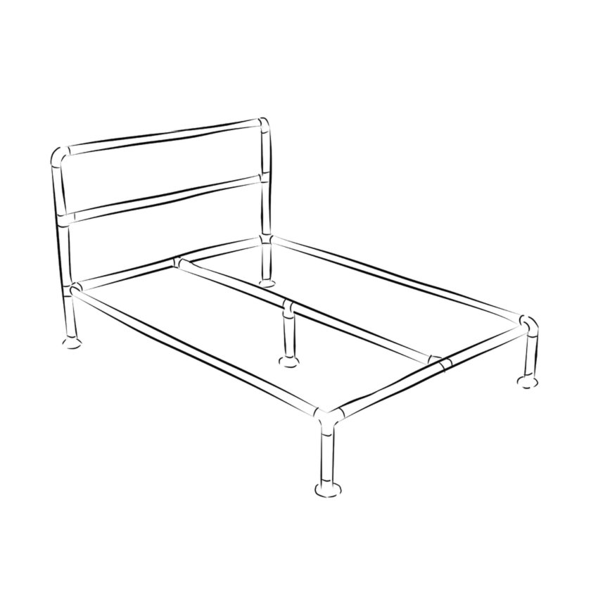 Industrial bed: Barbican frame