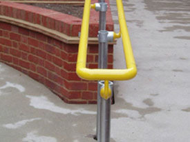Yellow DDA handrail