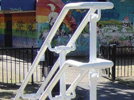 White DDA handrail