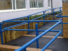 Powder-coated DDA handrail