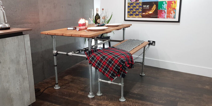 Industrial dining table frames