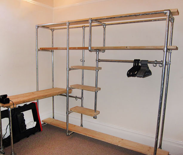 Scaffold Furniture: Build Your Own Storage Units. Scaffolding Furniture  Shelving Unit And Desk