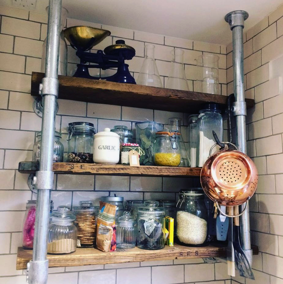 industrial style kitchen storage unit