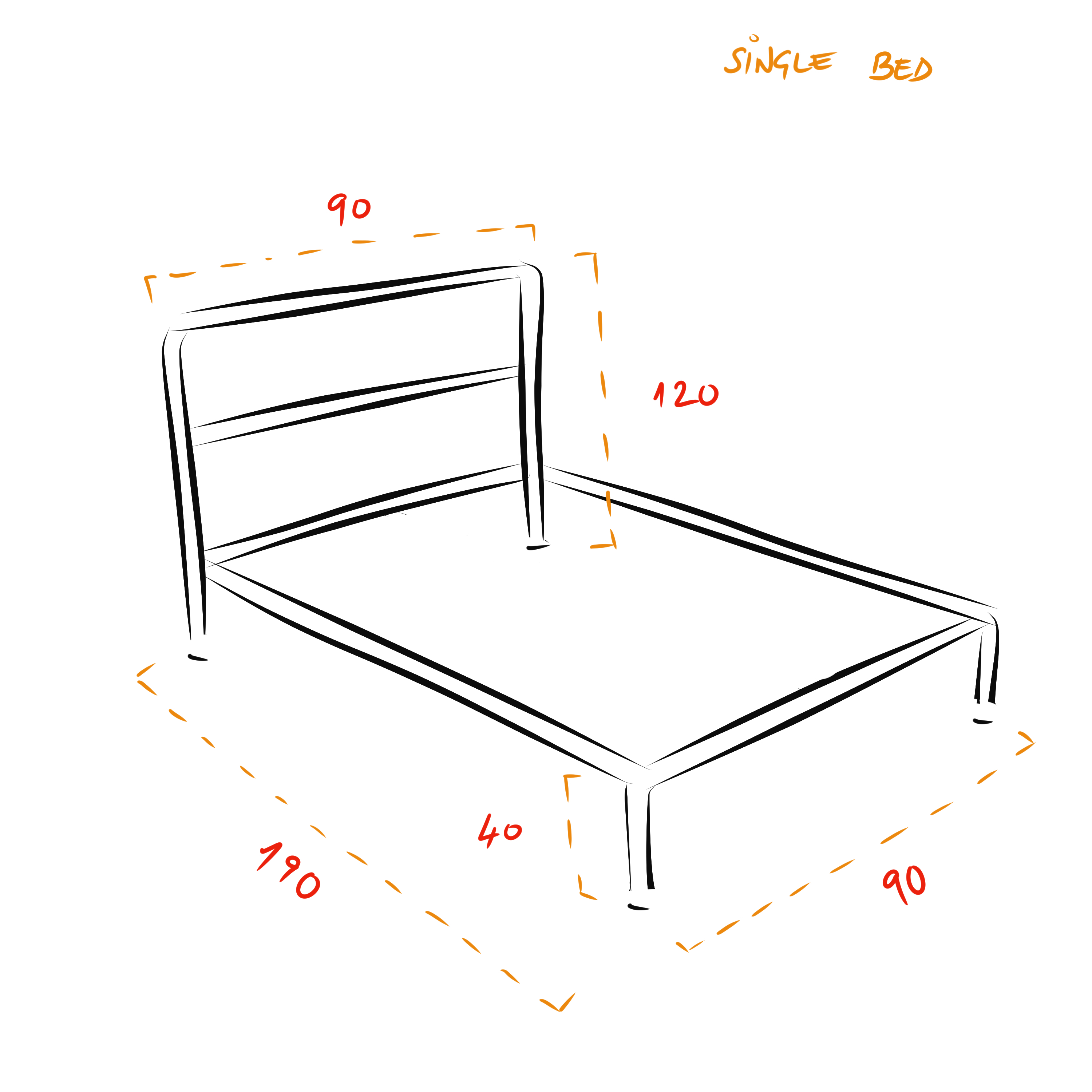 Barbican industrial bed frame - Single