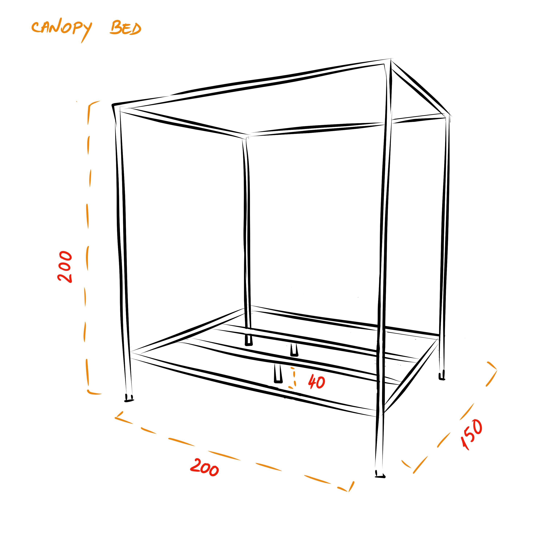 Windsor canopy bed frame - King size