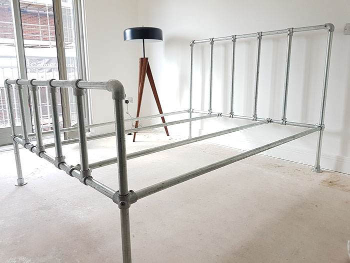 industrial style bed frame