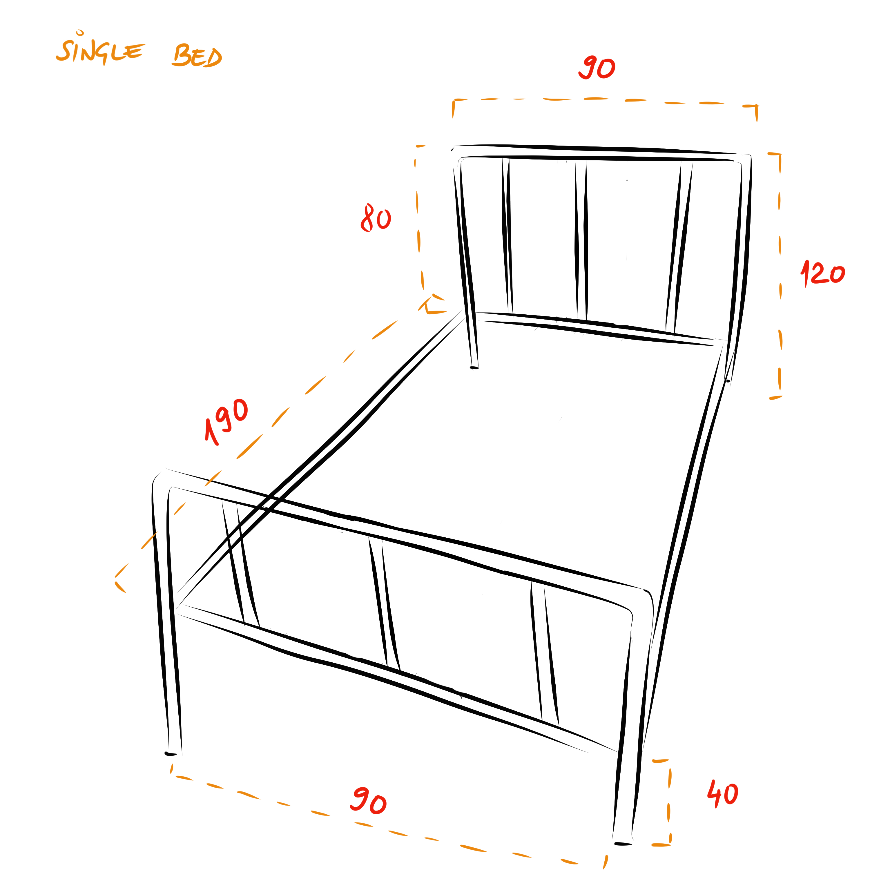 Camden industrial bed frame - Single