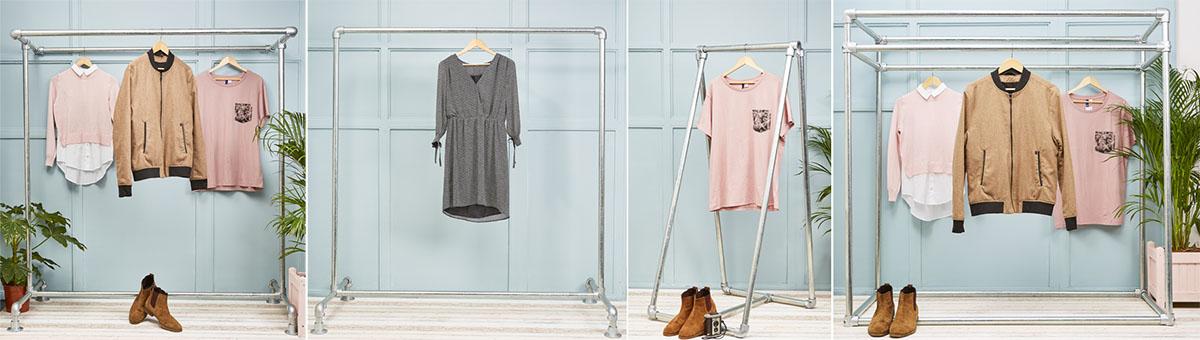 heavy duty industrial clothing rails