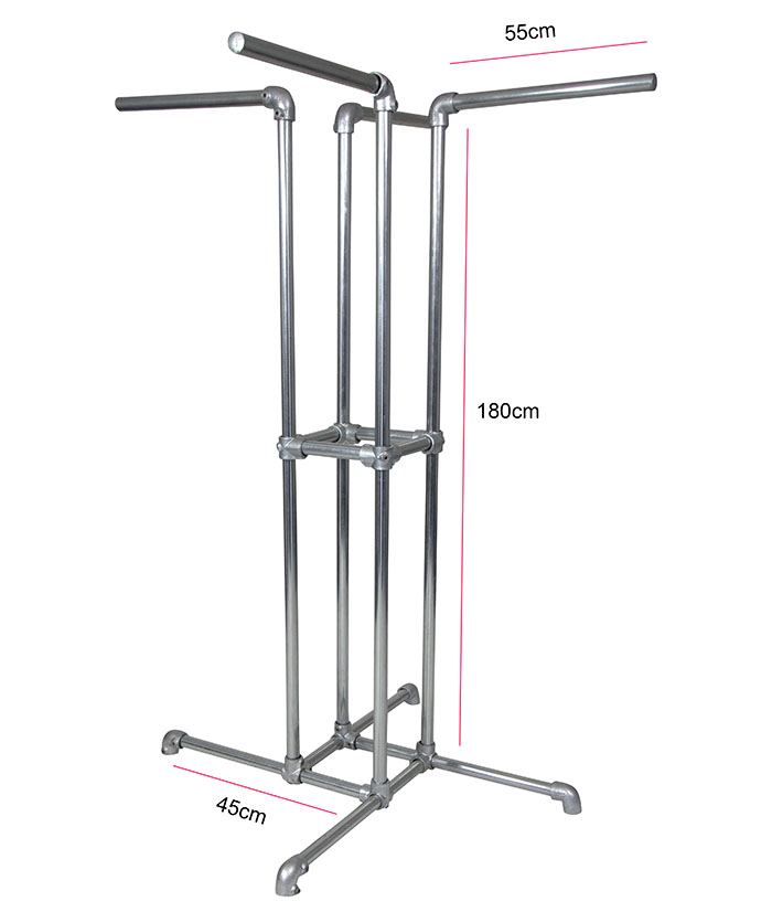 4 way freestanding clothes rail