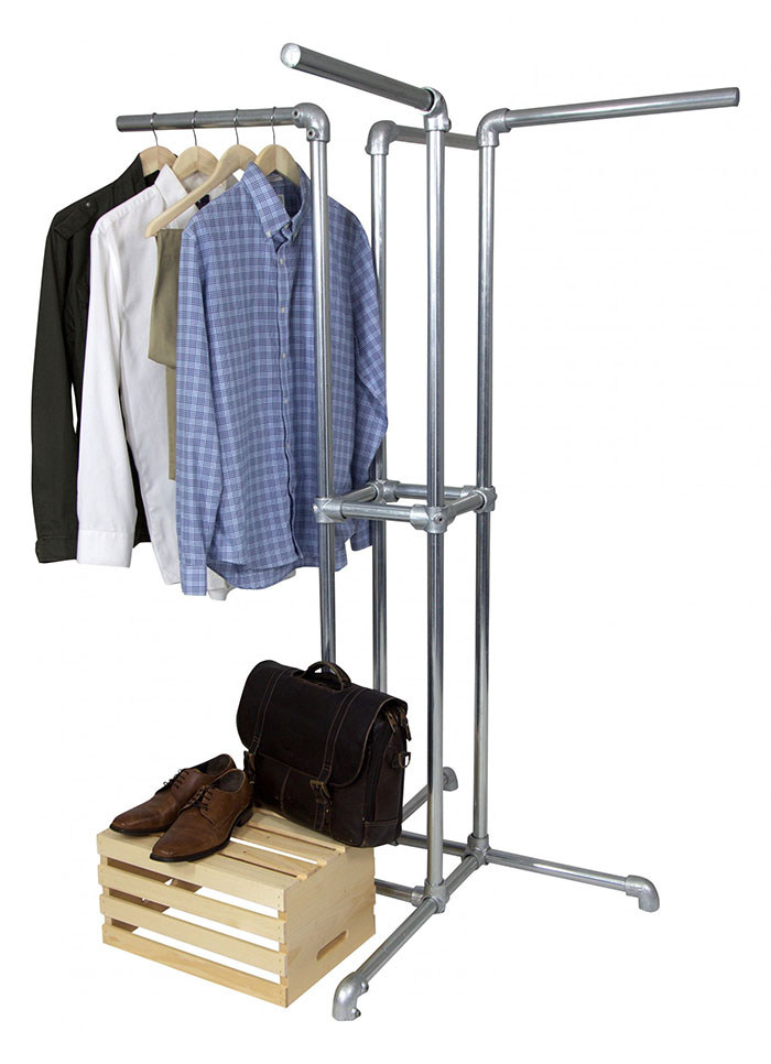 4 way clothes rail for shop floor
