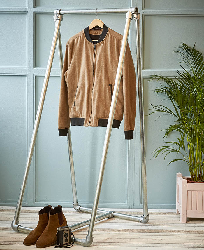 A frame clothes rail for boutique