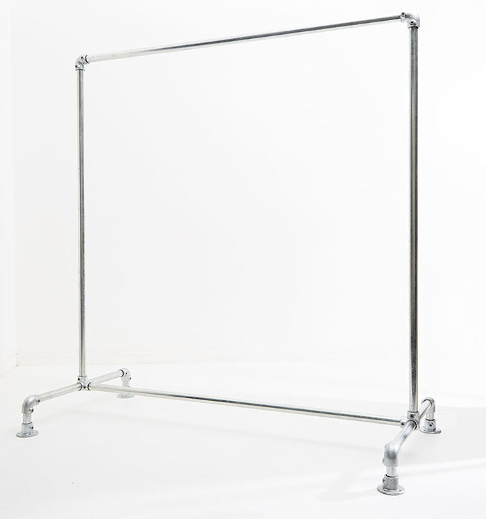 industrial style freestanding clothing rail