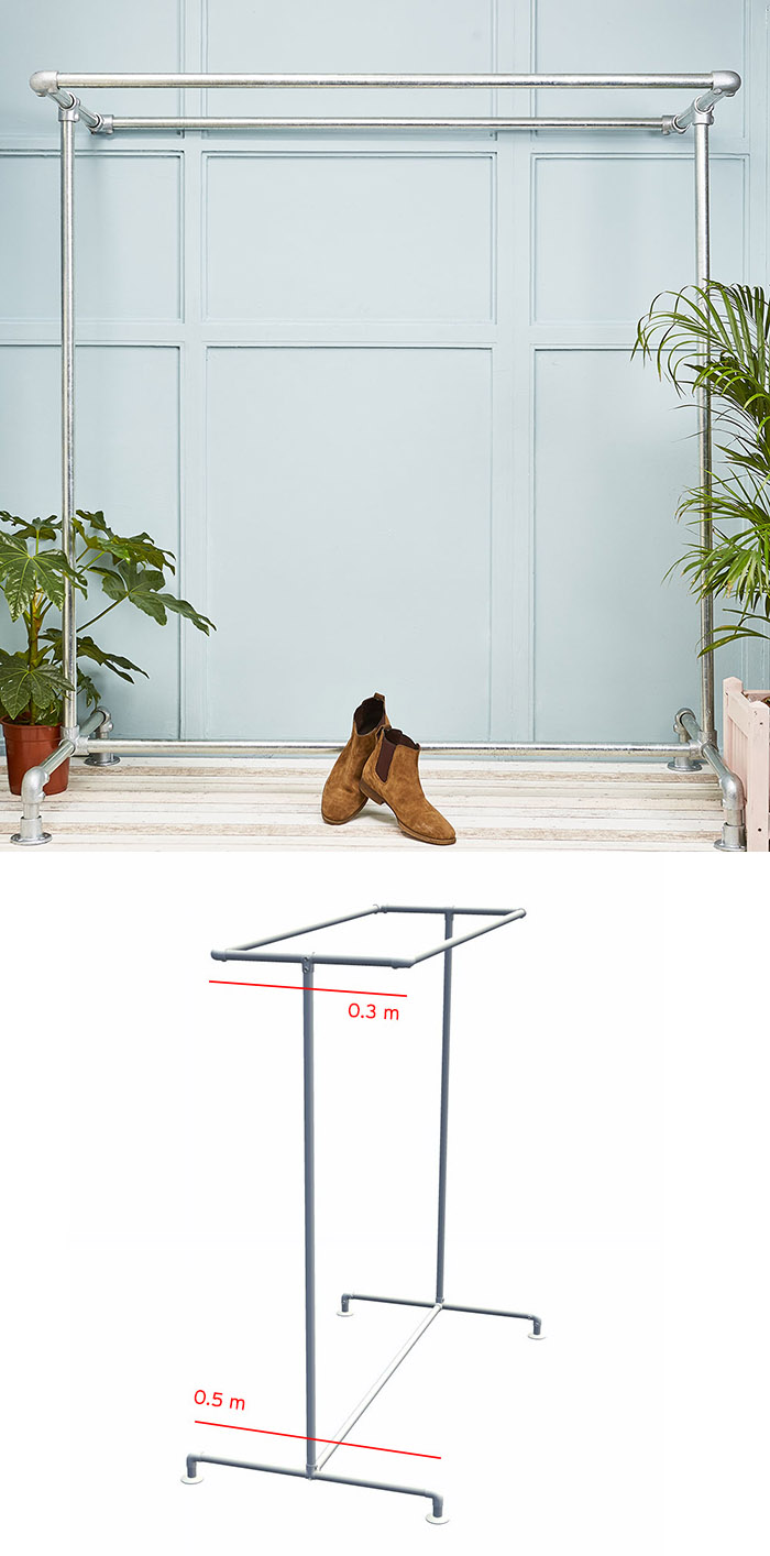 double clothing rail dimensions