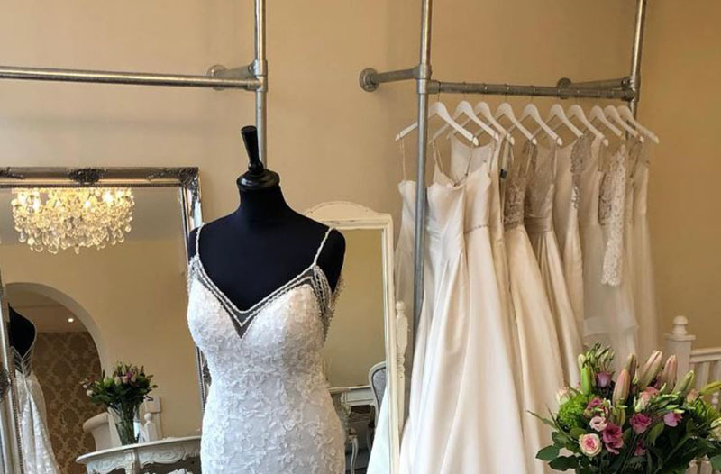 steel clothes rails for wedding shops