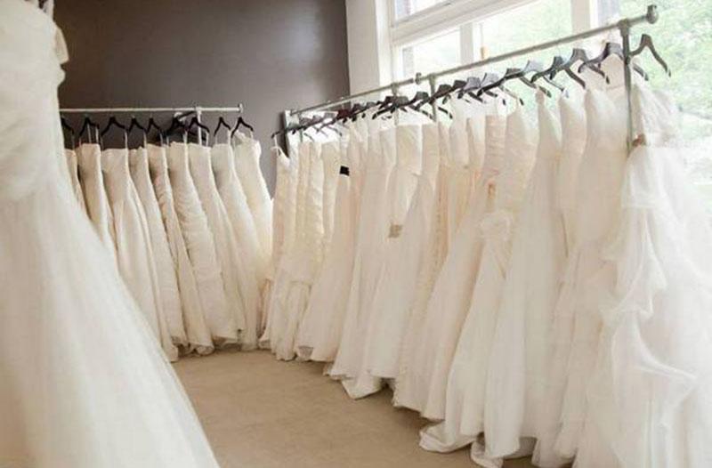 heavy duty clothes rails for bridal boutiques