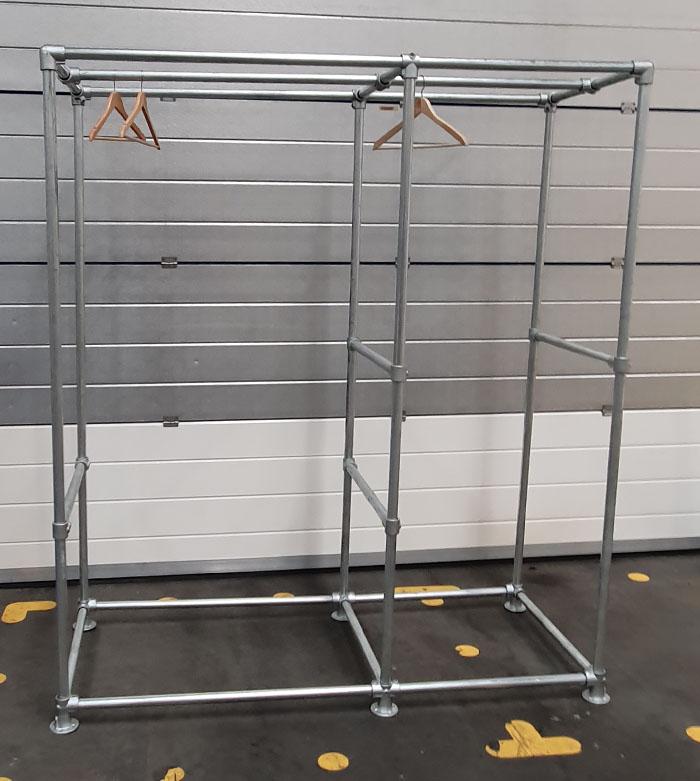 industrial style freestanding wardrobe