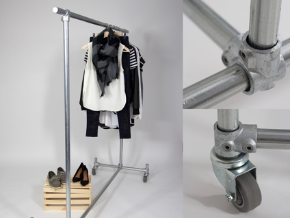 Design a freestanding clothing rail