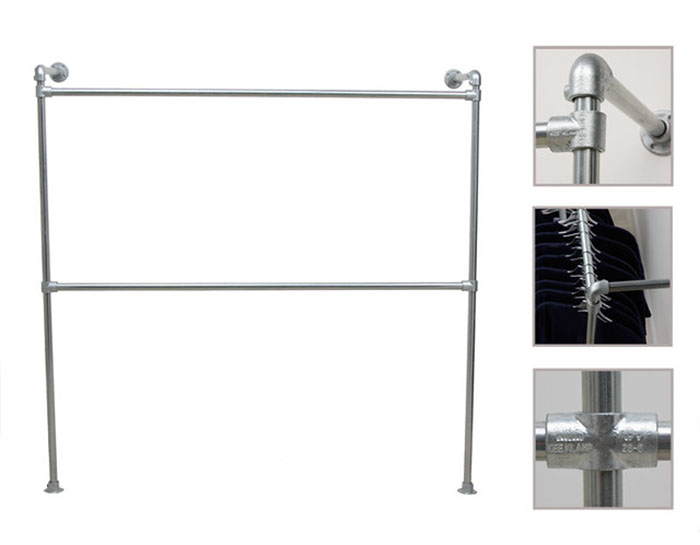 easy to customise wall mounted clothing rail