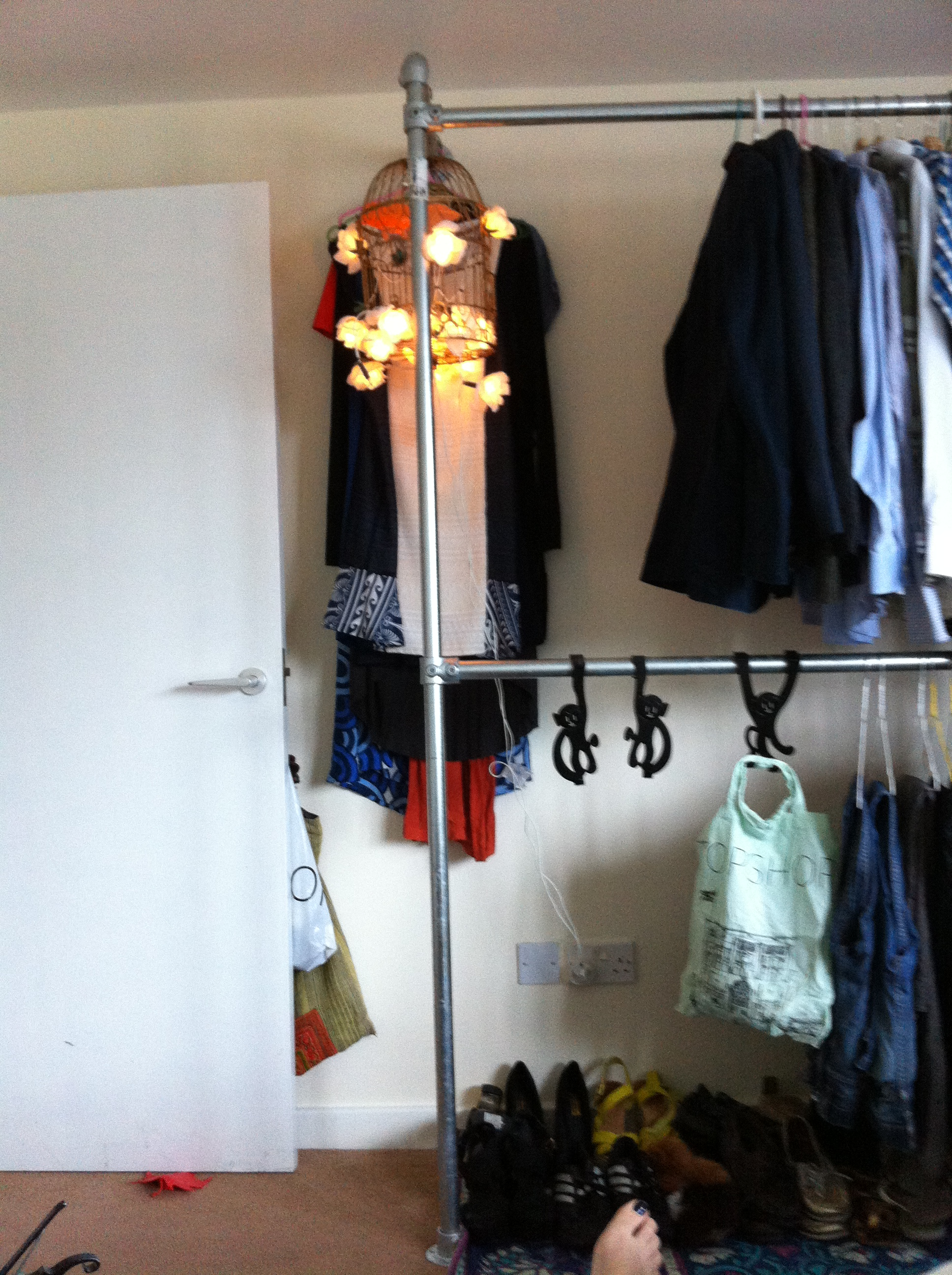 Wall Mounted Clothing Rail