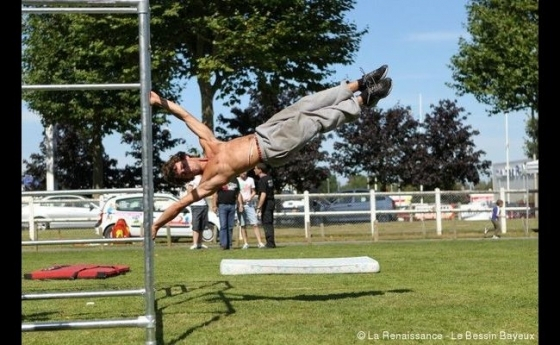 DIY parkour course
