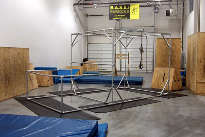 parkour equipment for an indoor gym