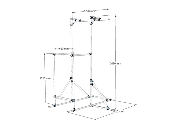 workout tower dimensions