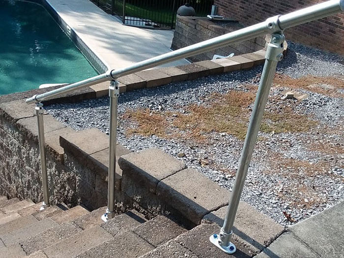 custom adjustable handrail kit for your garden