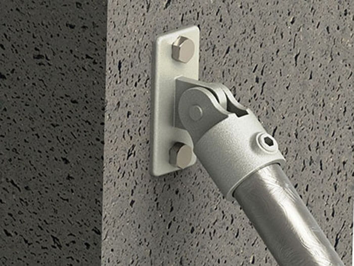 wall mounted adjustable fitting