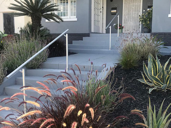 custom aluminium handrail for stairs