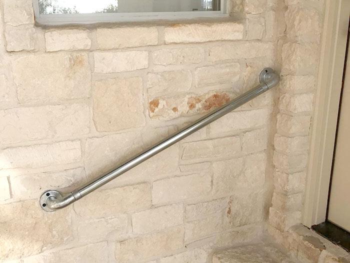 heavy duty handrail for walls