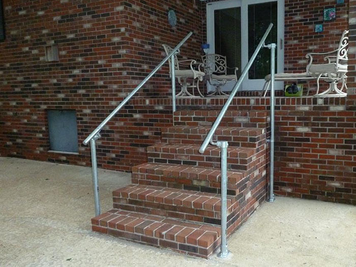 silver handrail kit for stairs