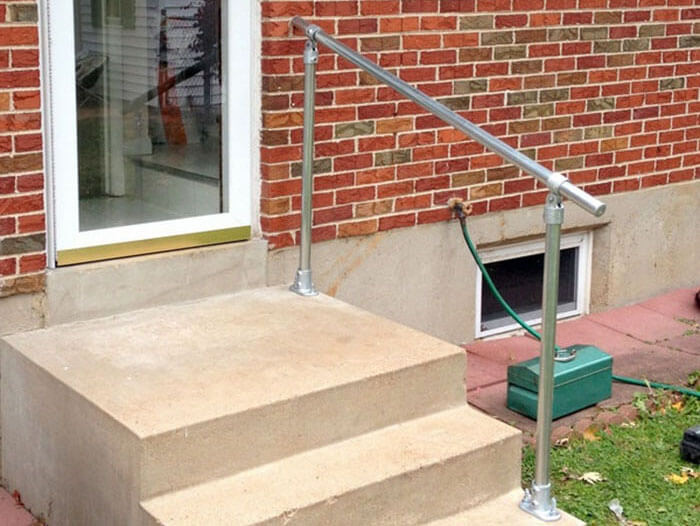 handrail suitable for outdoor use
